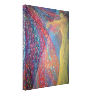 semi-abstract figurewrapped canvas stretched canvas print