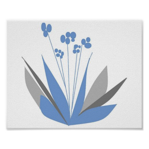 Semi-abstract Flowers Poster