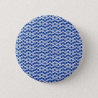 semi circle blue mosaic 6 cm round badge