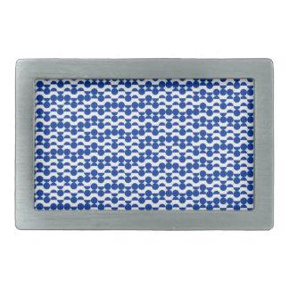 semi circle blue mosaic belt buckle