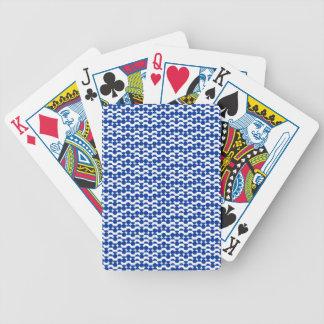 semi circle blue mosaic bicycle playing cards