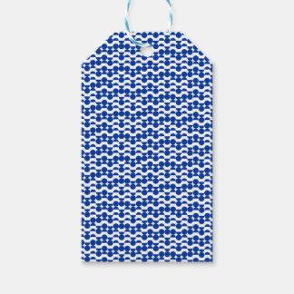 semi circle blue mosaic gift tags