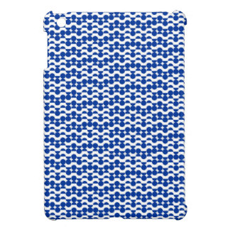 semi circle blue mosaic iPad mini cases