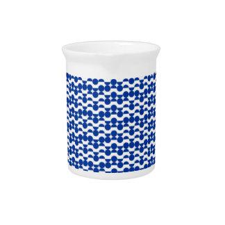 semi circle blue mosaic pitcher
