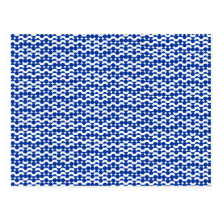 semi circle blue mosaic postcard