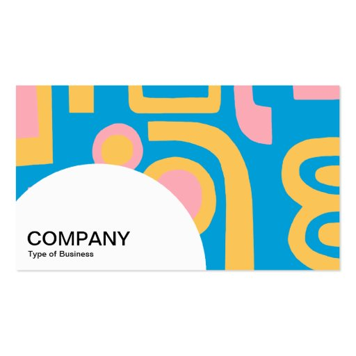 Semi-circle Panel - Abstract 170914 Business Cards