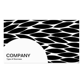 Semi-circle Panel - Abstract Leaves Business Card Template