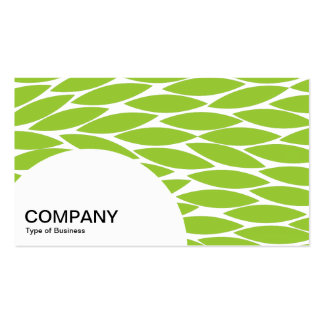 Semi-circle Panel - Abstract Leaves - Martian Grn Business Cards