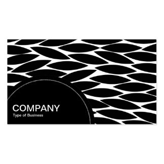 Semi-circle Panel (dots) -  Abstract Leaves Business Card Template