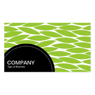 Semi-circle Panel dots - Abstract Leaves Business Card