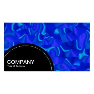 Semi-circle Panel (dots) - Blue Satin Abstract Business Card Template