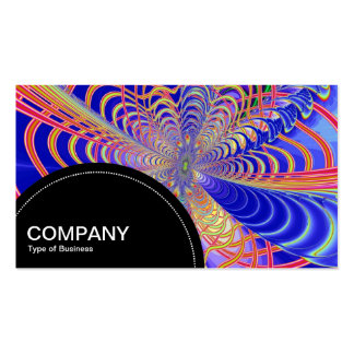 Semi-circle Panel (dots) - Fractal Abstract 03 Pack Of Standard Business Cards
