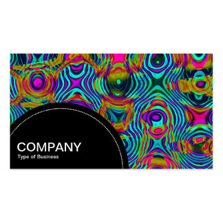 Semi-circle Panel (dots) - Fractal Abstract Business Card Template