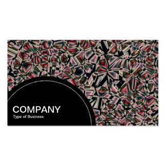 Semi-circle Panel (dots) - Fragmented Abstract 02 Pack Of Standard Business Cards