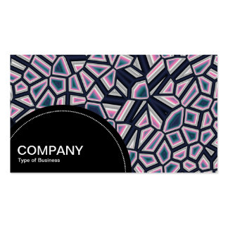 Semi-circle Panel (dots) - Fragmented Abstract Business Cards