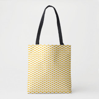 semi circle stripe tote bag