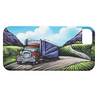 Semi driver trucking road scenic iphone 5 case