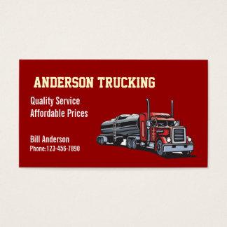 Semi Fuel Tanker Truck Business Card