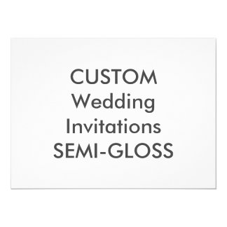 "SEMI-GLOSS 110lb 7.5"" x 5.5"" Wedding Invitations"