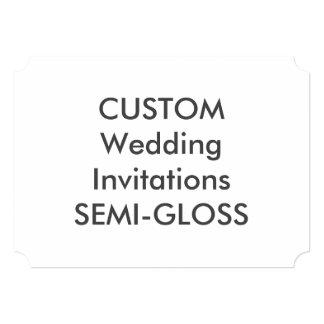 """SEMI-GLOSS 110lb 7""""x5"""" Ticket Wedding Invitations"""