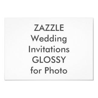 """SEMI-GLOSS 5"""" x 3.5"""" Wedding Invitations"""
