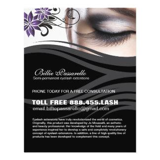 Semi-permanent eyelash extension flyer
