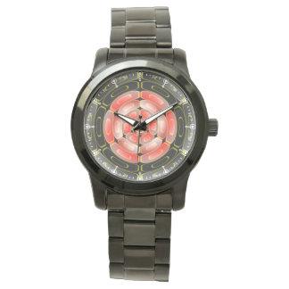 Semi-transparent algorithmic art watch
