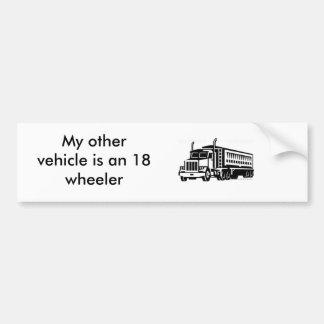 semi-transport-truck_TRN_075, My other vehicle ... Bumper Sticker