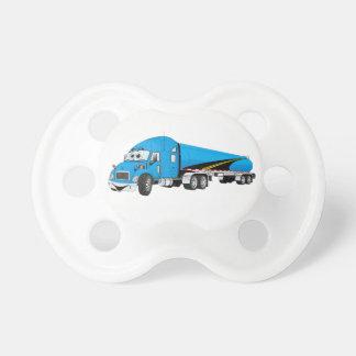 Semi Truck Blue Tanker Trailer Cartoon Dummy