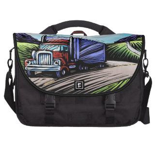 Semi truck driver scenic laptop bag