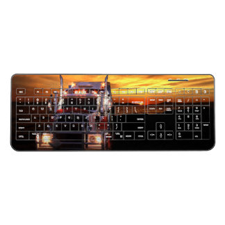 Semi Truck Driver Wireless Keyboard