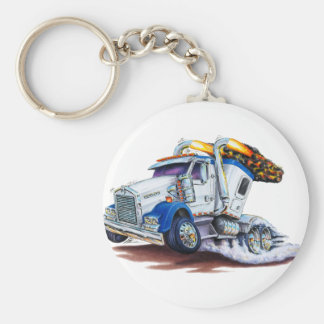 Semi Truck with Sleepercab Key Ring