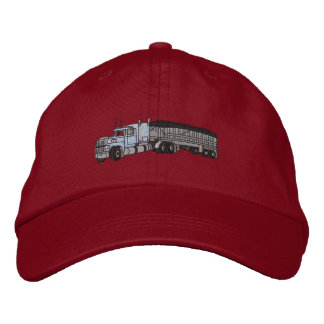 Semi with grain Trailer Embroidered Hat