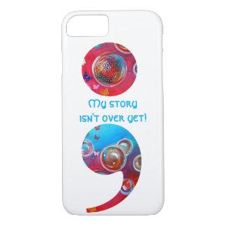 Semicolon; My story isn't... Bubbles iPhone 7 case