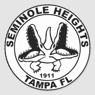 SEMINOLE_HEIGHTS_SEAL CLASSIC ROUND STICKER