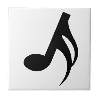 Semiquaver Musical Note Ceramic Tile