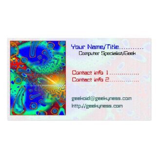 SemiSonic 3D Dichroic Glass Tech Geek Computer Business Card Templates