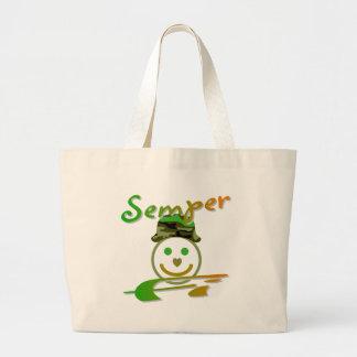 Semper Fi Large Tote Bag