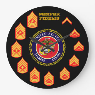 SEMPER FIDELIS Enlisted Marine Corps Wall Clock