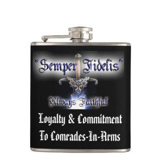 Semper Fidelis Flask