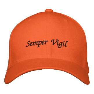 "Semper Vigil (Forever Vigilant) ""Sentry"" Cap. Embroidered Hats"