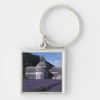 Senanque Abbey, Gordes, Vaucluse, Provence, 2 Silver-Colored Square Key Ring