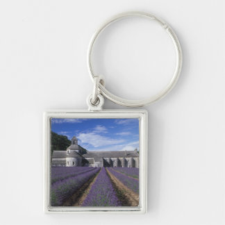 Senanque Abbey, Gordes, Vaucluse, Provence, Silver-Colored Square Key Ring