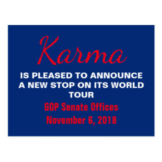 Senate Karma Vote 2018 Remember Resistance Postcard