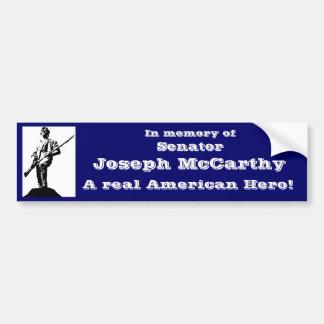 Senator Joseph McCarthy Car Bumper Sticker