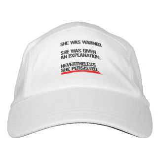 Senator Warren - Nevertheless She Persisted -- .pn Hat