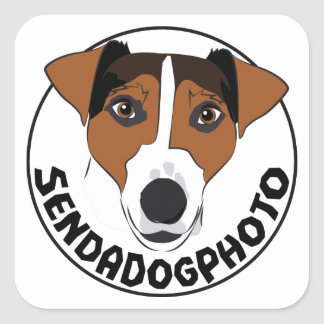Send a Dog Photo Square Sticker
