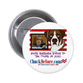 Send Barbara Boxer to the Pound in 2010 6 Cm Round Badge
