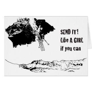 send it! like a girl card