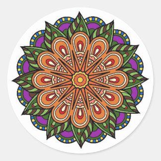 send it plant classic round sticker